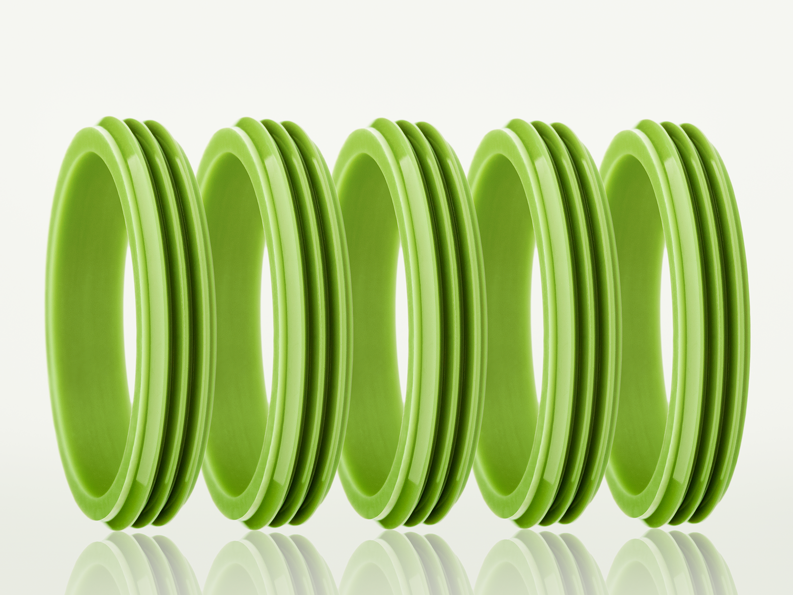 green silicone rings