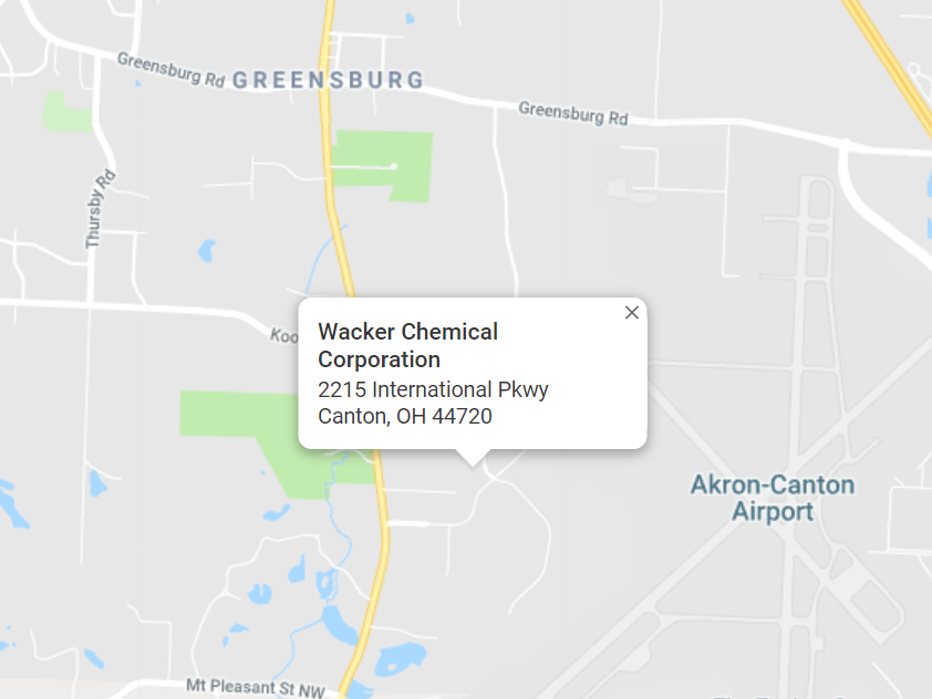 map of Wacker Chemical Corporation 2215 International Pkwy Canton, OH 44720